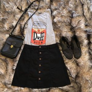 Mossimo Black Button Up Skirt